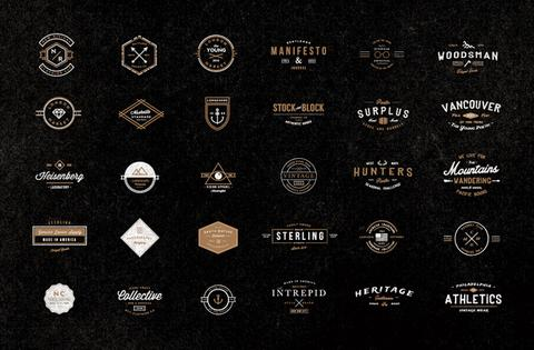 Hipster Logo Examples Reference: Creative Market