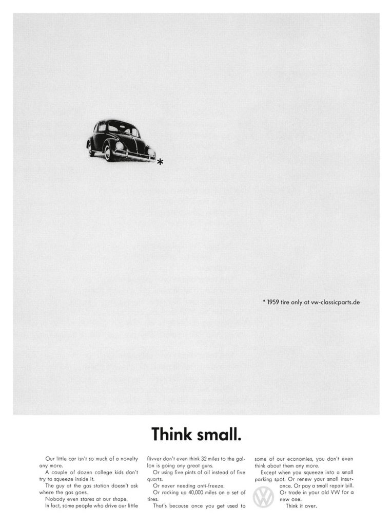 VW Think Small - good design example