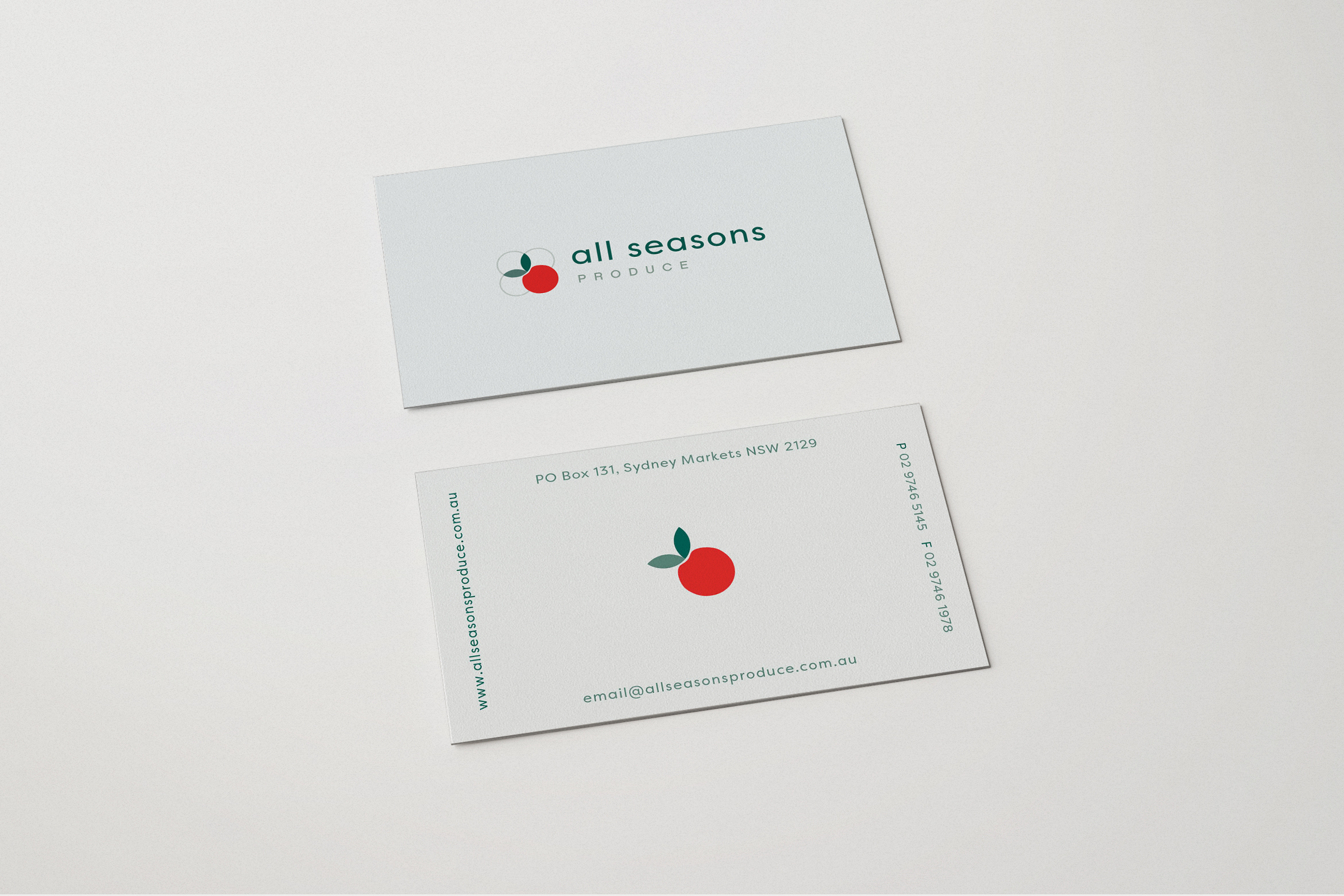 All Seasons Produce Business Cards