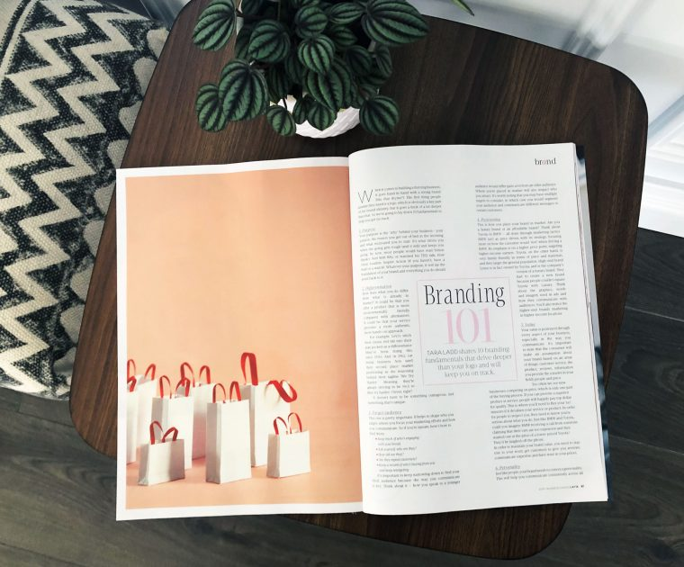 Your One and Only article in Issue 60 of the Business Chicks Magazine, Latte.